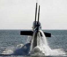 DEN HELDER - De Nederlandse onderzeeboot Hr.Ms. Bruinvis. Foto ANP ~ The Dutch submarine HNLMS Porpoise.