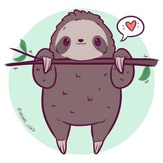 animals cartoon Doodled up a little sloth they're basically my spirit animal right now, the h. Doodled up a little sloth they're basically my spirit animal right now, the heat makes me such a lump😂😂 Cute Animal Drawings Kawaii, Cute Kawaii Animals, Cute Drawings, Cute Animals To Draw, Cute Cartoon Animals, Kawaii Illustration, Tree Illustration, Cute Animal Illustration, Kawaii Doodles