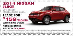 2014 Nissan JUKE Lease Offer (April)