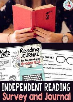 Motivate your students to enjoy reading more in independent reading and teacher-assigned literacy. Great for back to school! Reading Survey, Reading Notes, Reading Tips, Reading Strategies, Creative Teaching, Teaching Ideas, Teaching Tools, Teaching Resources, Poster Text