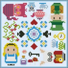 We're all mad here biscornu - Cross Stitch Patterns - Products