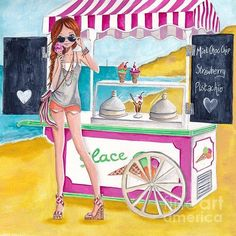 ●••°‿✿⁀Ice Cream‿✿⁀°••●  ~~Caroline Bonne-Muller