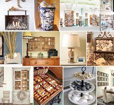 30 Creative Seashell Displays to Inspire You! #seashells