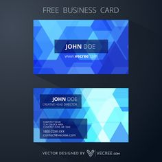 Blue Business Card Design With Abstract Background Design Free Vector - https://vecree.com/3232168/blue-business-card-design-with-abstract-background-design-free-vector/
