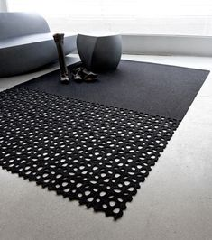 Lazer-Cut Felt Rug … More