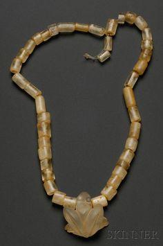 Pre-Columbian Quartz Necklace, Colombia, Sinu, c. 300-1550 A.D.