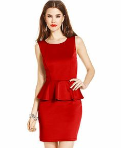 Tempted Juniors' Peplum Dress - Juniors Dresses - Macy's