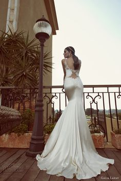 galia lahav 2014 bridal collection saffron wedding dress straps illusion back