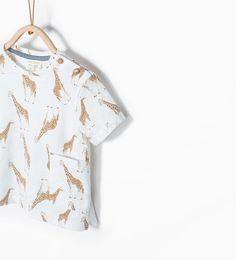 Afbeelding 1 van Shirt met giraffeprint van Zara