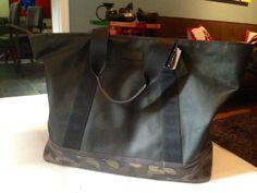 Coach Men's camo tote bag