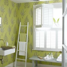 Bright, beautiful wallpaper | Bathroom | PHOTO GALLERY | Ideal Home | Housetohome