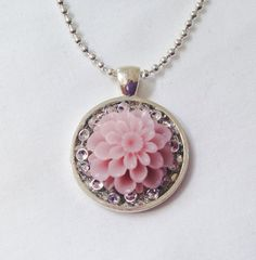 Pendant with Resin Cabochon on Etsy, $12.00