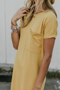 Demetra Pocket MOM Dress - Mom Dress Casual - ideas of Mom Dress Casual - Short Sleeve Pocket Dress Short Beach Dresses, Mom Dress, Mellow Yellow, Passion For Fashion, Dress To Impress, Casual Dresses, Casual Outfits, Style Me, Cute Outfits