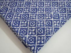 1 yard India Cotton Fabric/Natural Vegetable Dyes by CraftyJaipur