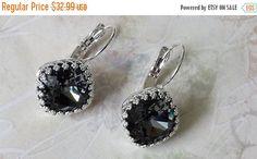 Mothers Day Sale Black Diamond Earrings  by ArtistInJewelry