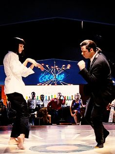 PULP FICTION dancing queen and king