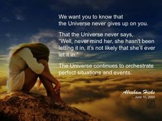#abrahamhicks #universe #orchestrate
