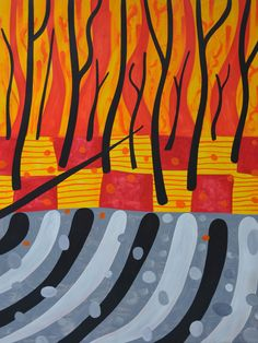 Mark Schaller ~ Burning Landscape, 2009 (oil on linen)