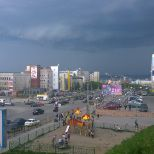 Murmansk soon getting some refreshing rain and thunder #murmansk #thunder #summer #rain Better run inside soon