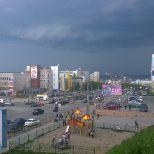 Murmansk soon getting some refreshing rain and thunder #murmansk #thunder #summer #rain Better run inside soon