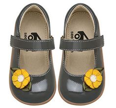 See Kai Run Gray Mary Jane from seekairun.com - cool baby shoes, toddler shoes, kids shoes and baby booties.