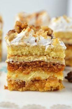 Prajitura Petre Roman - Retete culinare by Teo's Kitchen Sweets Recipes, Cake Recipes, Desserts, Romanian Food, Romanian Recipes, Different Cakes, Food Cakes, Something Sweet, Vanilla Cake