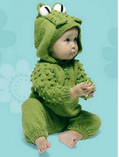 knitted frog suit free pattern