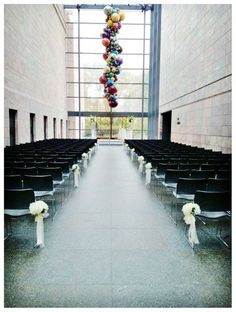 Wedding ceremony at Joslyn Art Museum. I've always thought that would be a wonderful place to have a wedding, but I'm sure it's incredibly expensive.