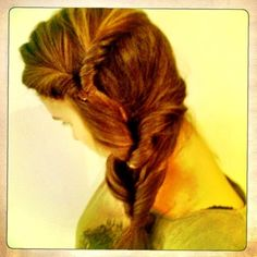 My take on Bebexo's side plait. Thicker hair = not such a pretty plait but I like how it turned out eventually.