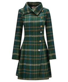 Absolute Joe Coat - - Our best ever coat is back for the season in a delightful new check. With a full skirt and asymmetric buttons, this sweet style is a chic addition to your winter wardrobe. Approx Length: Source by tapasyab Best Winter Coats, Winter Coats Women, Kurta Designs, Tartan Mode, Tartan Fashion, Fashion Coat, Mode Mantel, Winter Stil, Jackets For Women
