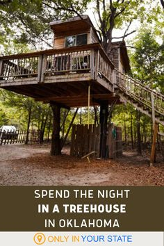 Sleep High Up In The Forest Canopy At Eufaula Treehouse Tree-Sort In Oklahoma Romantic Getaways In Oklahoma, Best Romantic Getaways, Romantic Vacations, Dream Vacation Spots, Vacation Destinations, Dream Vacations, Tree House Resort, Treehouses, Summer Travel