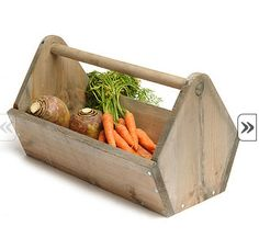 Wooden trug for fresh veg