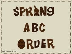 This is an 11 page PDF unit using springtime words to put in ABC order. On some of them you will need to teach to the second letter to alphabetize. Teaching The Alphabet, Teaching Reading, Reading Lessons, Kindergarten Reading, Word Study, Word Work, Classroom Activities, Classroom Ideas, Spring Activities