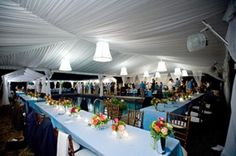Tented, poolside wedding receptions are truly memorable events at Goodstone.