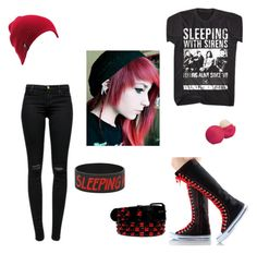 """""""Emo #5"""" by blackmidnightkitten ❤ liked on Polyvore featuring J Brand, Volcom, BLVD Supply and Eos"""