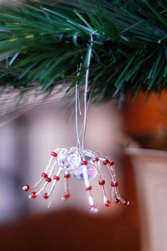 This beautiful spider ornament was shared along with the Legend of the Christmas Spider. I love how this spider looks and feels in the hand, and the message is sweet as well.