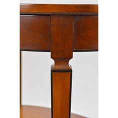 Biedermeyer Style Oval Side Tables - A Pair