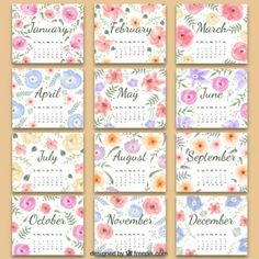 Floral 2016 calendar