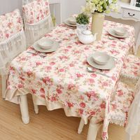 Manufacturers direct sell decorative dining table pastoral safflower stripe adornment tablecloth manteles para mesa nappe Toalha