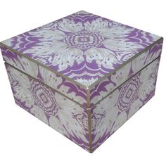 Arcadia Home Decorative Reverse Painted Mirror Box Color: Lavender Cigar Box Diy, Diy Box, Mirror Box, Mirror Painting, Disney Sweatshirts, Thinking Outside The Box, French Country Decorating, Jewelry Box, Lavender