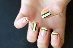 Green Bay Packers nail art!