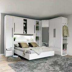 Modern bedroom furniture is still a favorable trend for the youth, especially for those who live in the apartment or in the minimalist house. Modern Bedroom Furniture Sets, Contemporary Bedroom, Bedroom Sets, Queen Bedroom, Bedroom Modern, Bedding Sets, Bedroom Closet Design, Home Decor Bedroom, Bedroom Designs