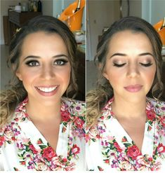 Beautiful Bridal Airbrushed makeup for this awesome bride! Pretty bronzes and champagnes with a soft lippi to finish this look.. ♡  Makeup artist Gina Petersen