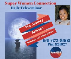 What are your thoughts on the journey from intention to manifestation?  The Journey is the Fun part, you may fall into frustration, worry, unworthiness, and doubt when our intentions don't turn into manifestations. Join Candice Mata Box  today on the Super Women Connection Teleseminar as we discover the beauty and creative energy of the Journey.  I am excited for the call!!