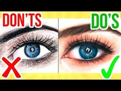 DO'S & DON'TS: How To Draw a Eye using Coloured Pencil | Step By Step Drawing Tutorial - YouTube