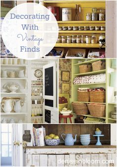 DIY:  Decorating With Vintage Finds - some great ideas on ways you can incorporate your treasures into your home decor.