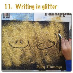 15 creative ways to learn to write the Arabic letters. Follow us: Facebook.com/BusyMummys