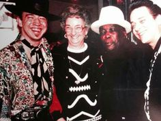 Stevie Ray Vaughan, his mom Martha Vaughan, John Lee Hooker?, his brother Jimmie Vaughan