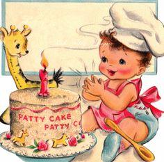Baby's Birthday Vintage Digital Download Printable Images (167)