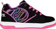 Heelys , Chaussures de skateboard pour fille - noir - Black/Pink/Purple, - Chaussures heelys (*Partner-Link)
